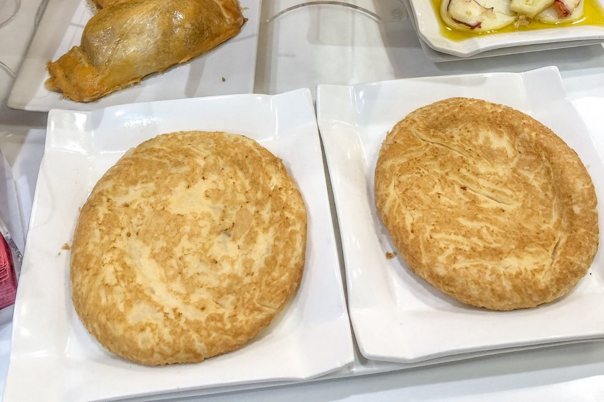 Tortilla -- an egg-based dish that can include potatoes, salted cod, or other ingredients-- is one of the best tapas in San Sebastian, Spain