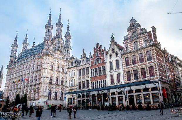 Grote Markt, the main market square of Levuen is ringed with beautiful buildings
