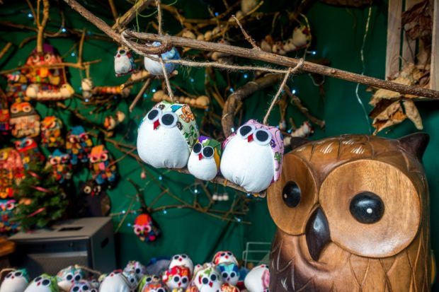 Crafts for sale in Liege at one of the top Christmas markets in Belgium