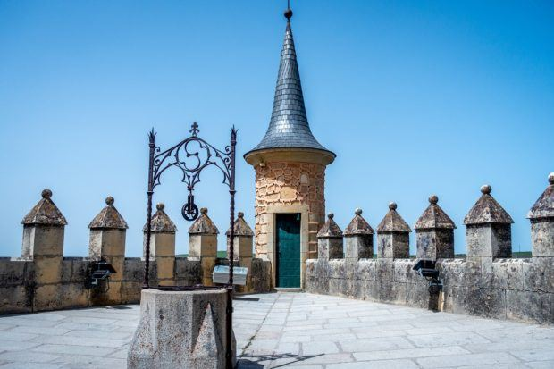One of the large turrets of the Alcazar of Segovia in Spain