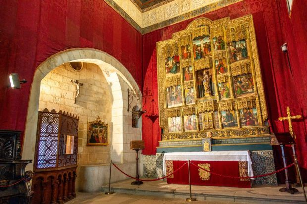 The chapel inside the Segovia castle, aka the Alcazar of Segovia