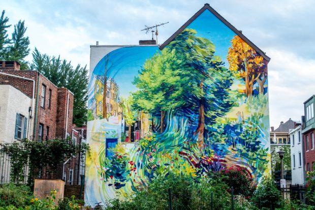 Garden of Delight, one of the many works of the Mural Arts Philadelphia program