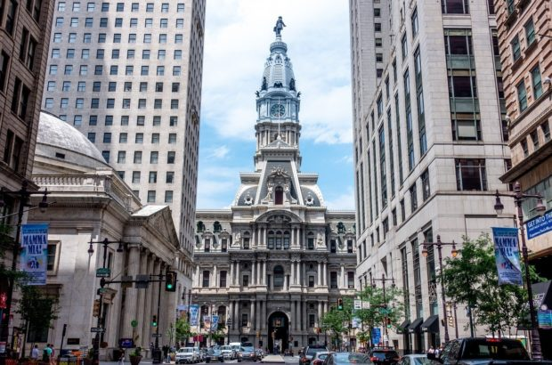 Philadelphia City Hall is one of the main Philly landmarks. The view from the top is stunning and seeing it is one of the top things to do in Philadelphia.