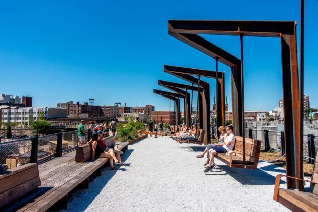 The Rail Park is one of the best places to go in Philly for lovers of the outdoors in the city