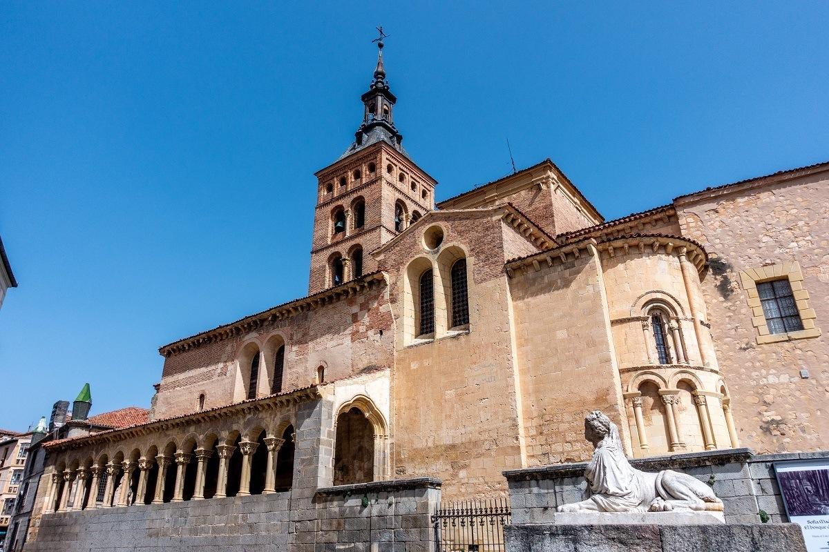 Exterior of San Martin Church in Segovia, Spain