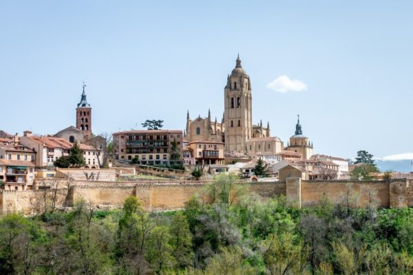 The massive Segovia cathedral is one of the sites to see on a Madrid to Segovia day trip