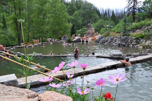 Natural hot springs Colorado photos:  Strawberry Park is considered one of the best natural hot springs in Colorado.