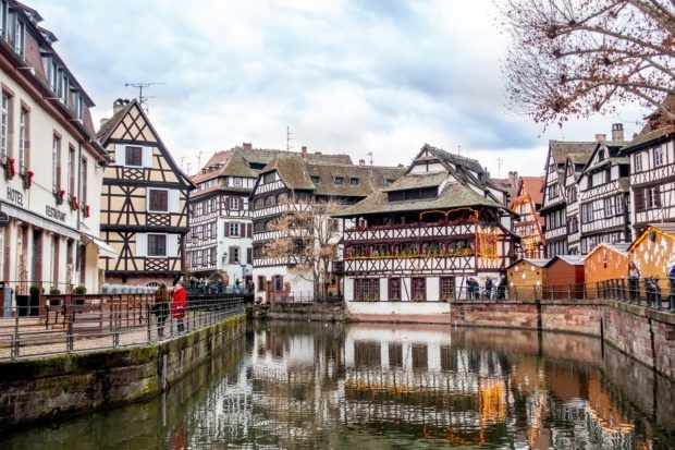 The canals and half-timber buildings of Petite France are some of the most popular places to visit in Strasbourg France
