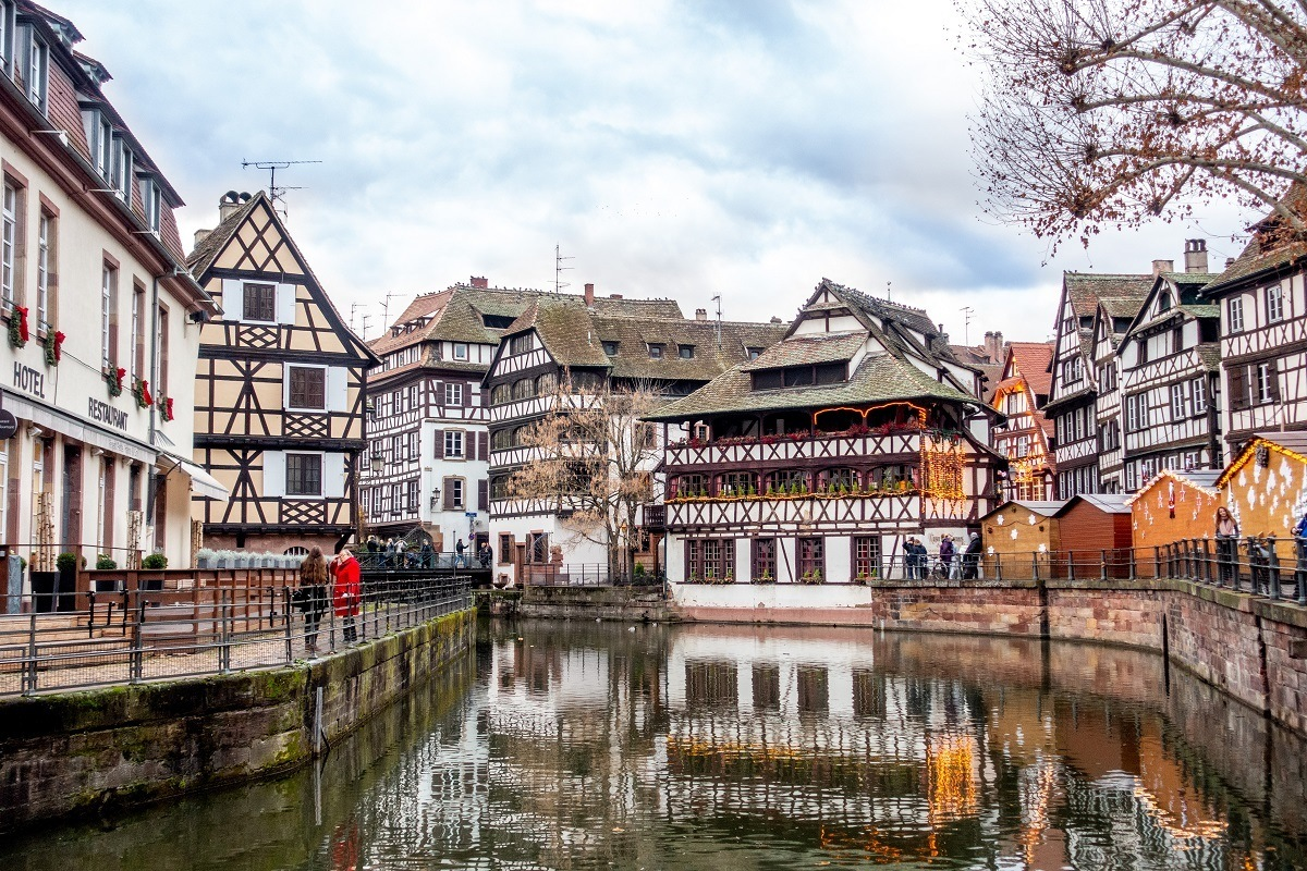 Canal and half-timber buildings in Petite France