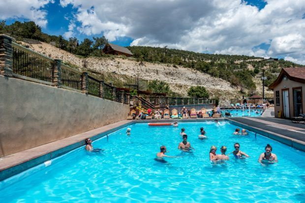 Families at the Mount Princeton Hot Springs.