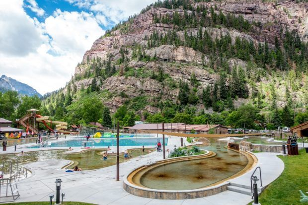 The Ouray hot springs pool in Ouray, Colorado.