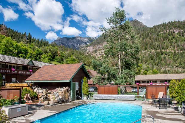 The Twin Peak Lodge & Hot Springs in Ouray, Colorado.