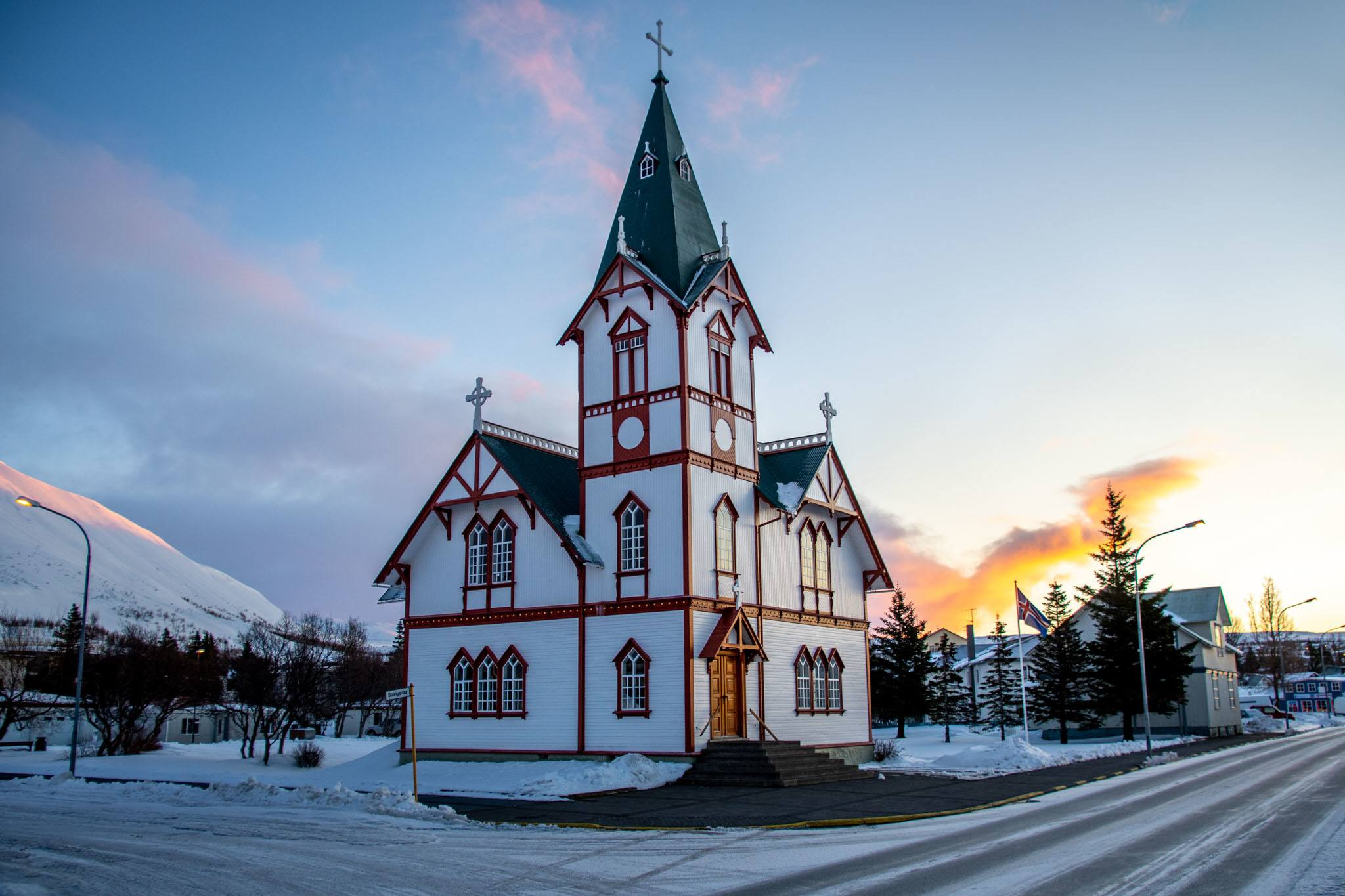 The church in Husavik, Iceland