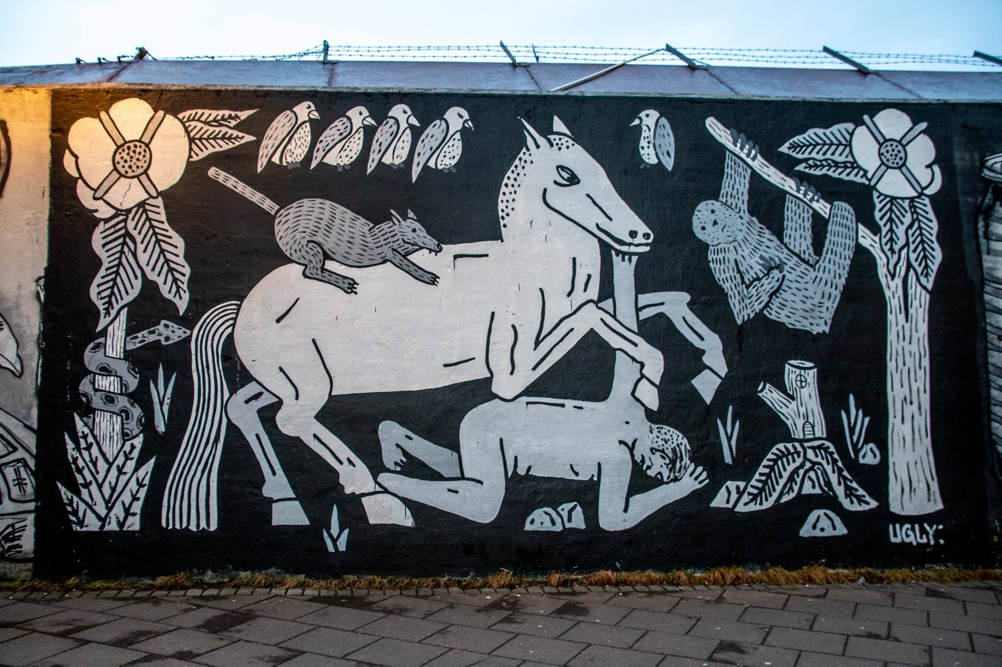 Another mural by Ugly Brothers in Reykjavik.