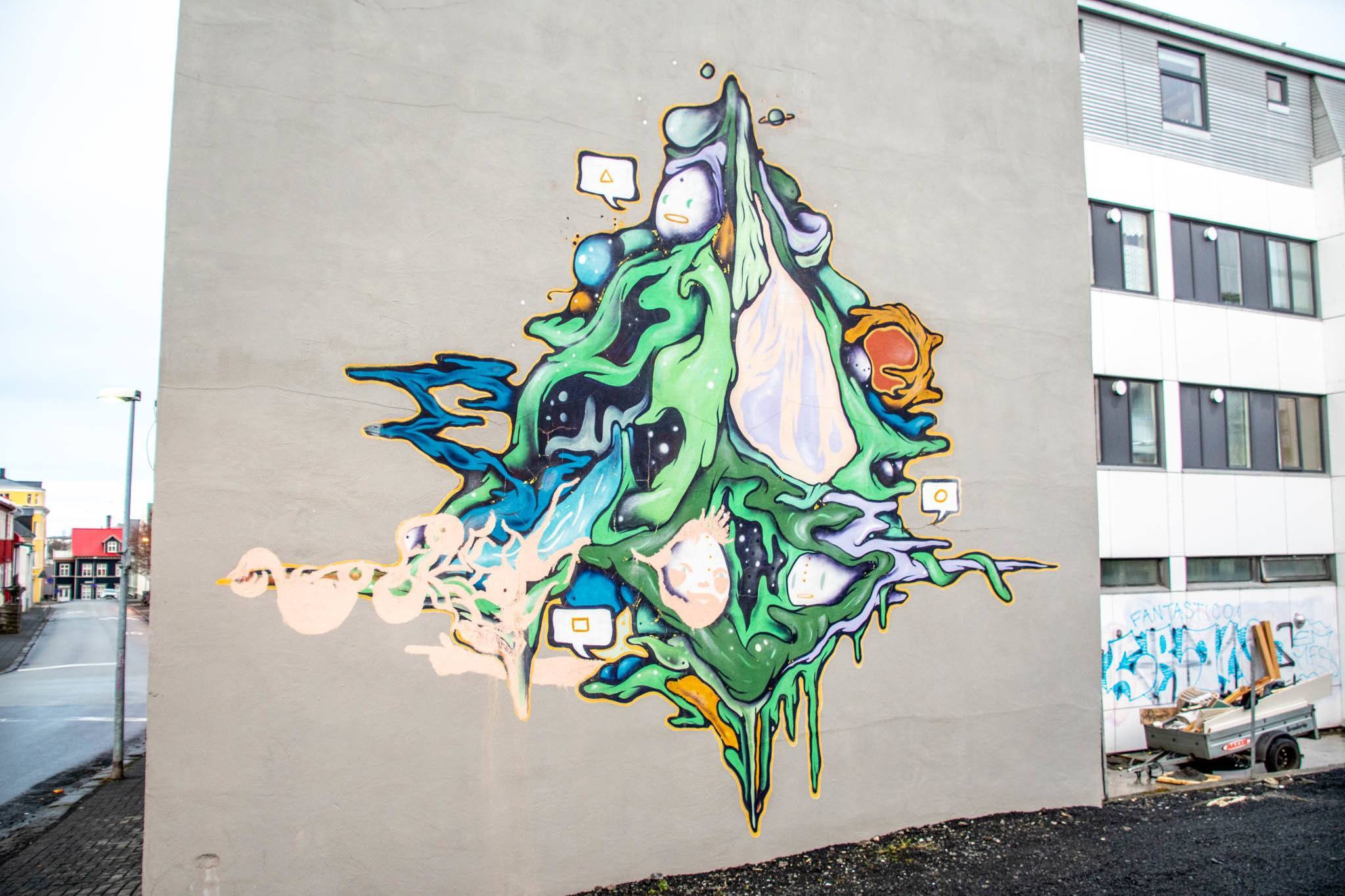 Street art murals are subject to change and frequent destruction.
