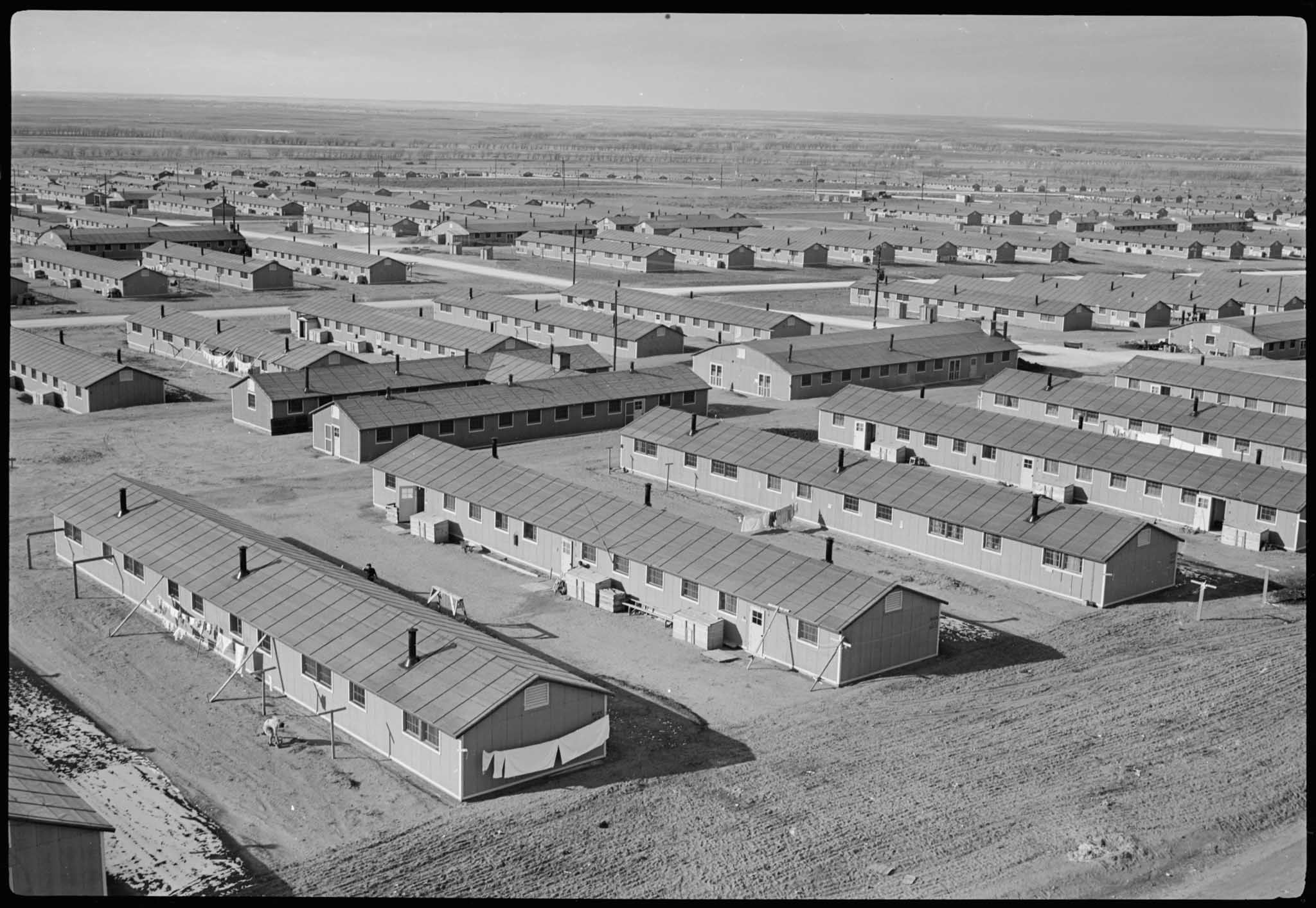 View of the Granada Relocation Center from above