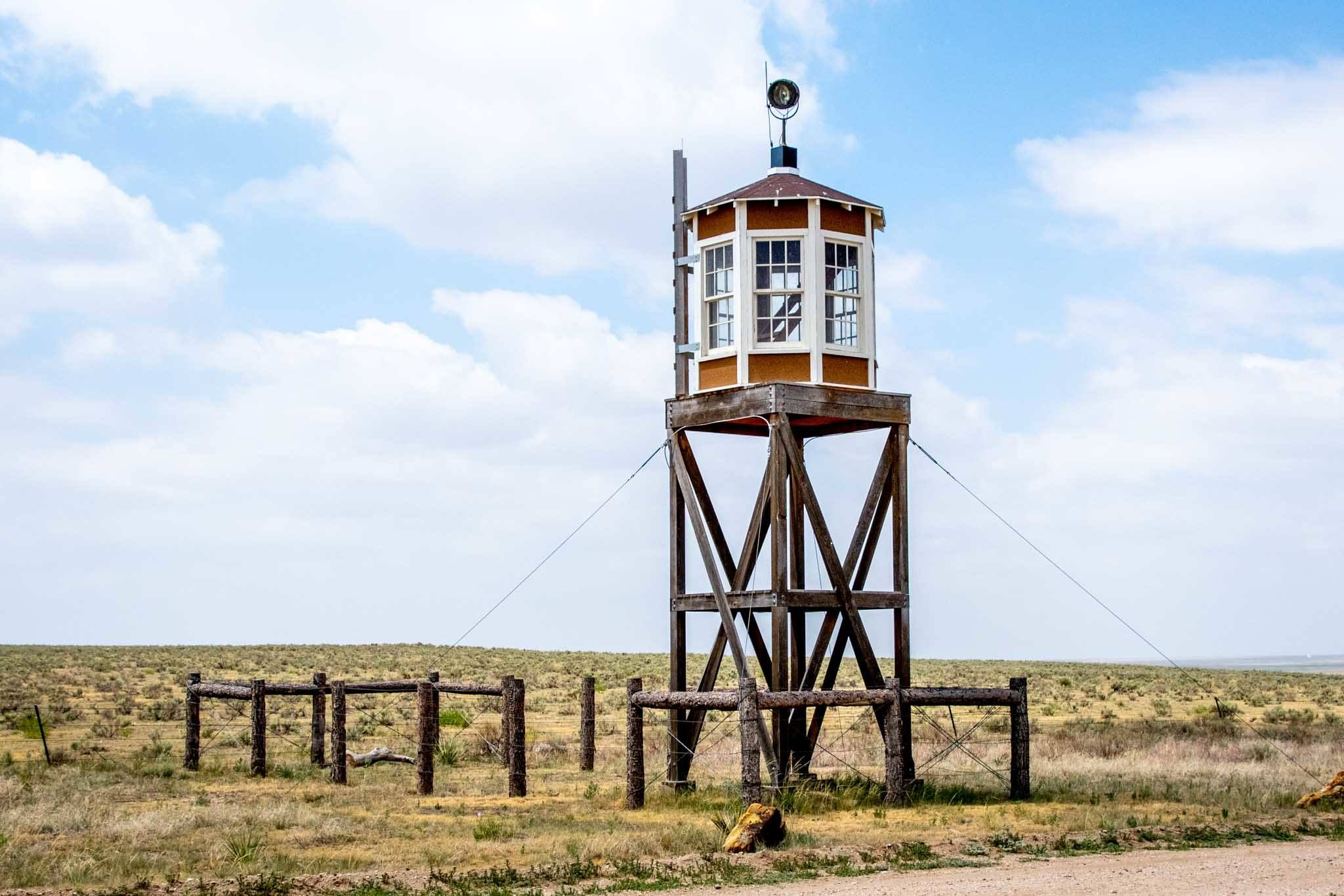The Camp Amache guard tower in Colorado