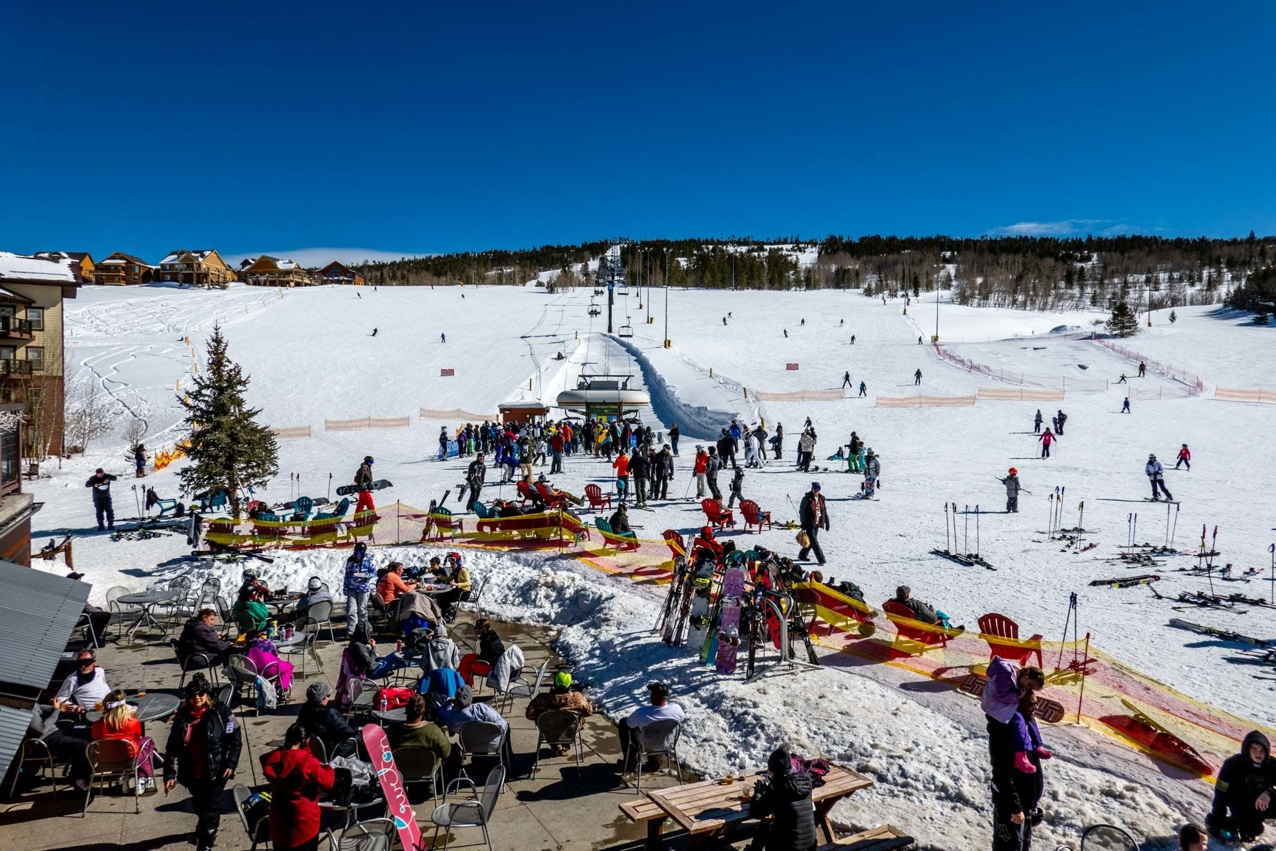 View from the base at Granby Mountain Ranch ski area