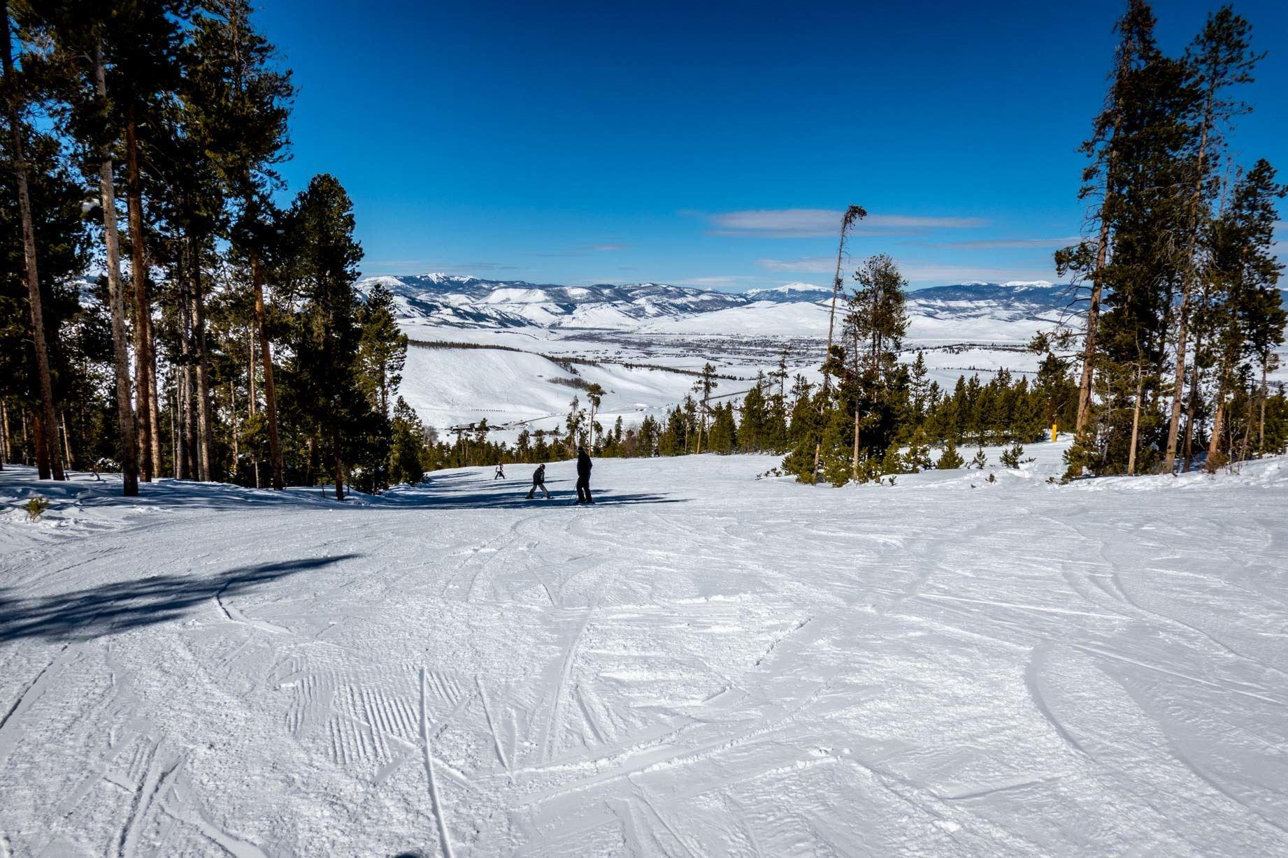 View down a ski run at Granby Mountain Ranch ski area