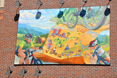 Mountain Biking Mural in Steamboat Springs