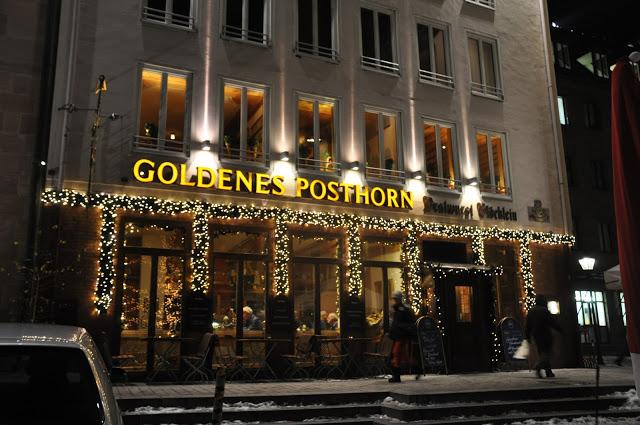 Exterior of the Goldenes Posthorn restaurant
