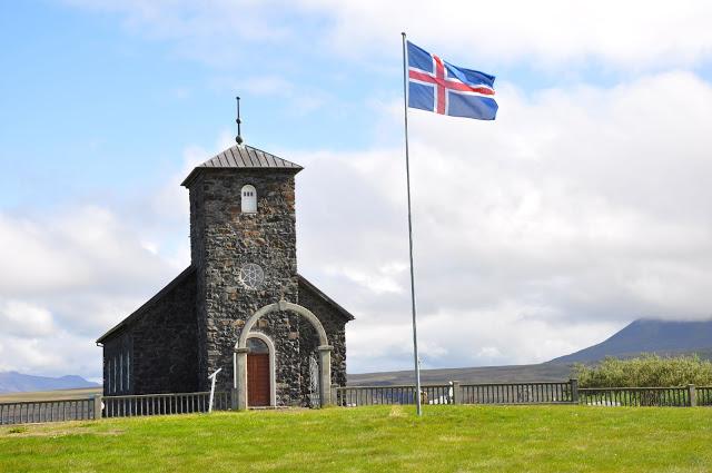 The stone church of Pingeyrakirkja