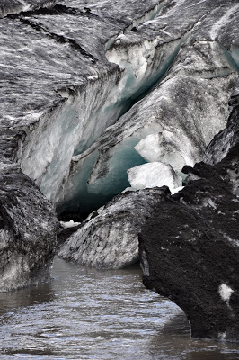 Crevasse in the Solheimajokull Glacier
