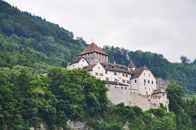 stone castle on a hillside in Vaduz